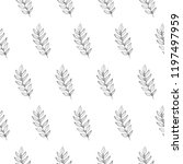leaf seamless pattern isolated... | Shutterstock .eps vector #1197497959