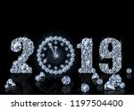 diamond wallpaper with xmas... | Shutterstock .eps vector #1197504400