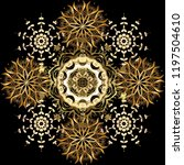 pattern on black  brown  beige... | Shutterstock .eps vector #1197504610