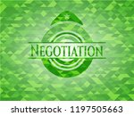 negotiation green emblem with... | Shutterstock .eps vector #1197505663