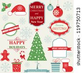 christmas decoration collection | Shutterstock .eps vector #119750713