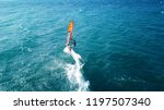 aerial drone photo of surfer...   Shutterstock . vector #1197507340