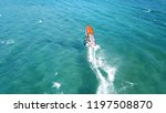 aerial drone photo of surfer... | Shutterstock . vector #1197508870