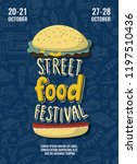 street food festival poster...