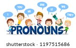 pronouns in english language... | Shutterstock .eps vector #1197515686