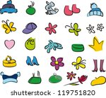 big collection of clothes and... | Shutterstock .eps vector #119751820