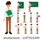 teacher character working job... | Shutterstock .eps vector #1197521449