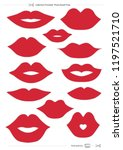 lips collection printable photo ... | Shutterstock .eps vector #1197521710