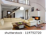 big and comfortable living room ... | Shutterstock . vector #119752720