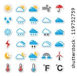 weather icons set as labels  ... | Shutterstock .eps vector #119752759
