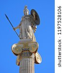 extreme zoom iconic statue of... | Shutterstock . vector #1197528106
