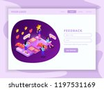 crm system isometric web page   Shutterstock .eps vector #1197531169