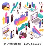 business analyst set | Shutterstock .eps vector #1197531193
