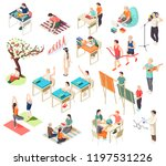 alternative education isometric ... | Shutterstock .eps vector #1197531226