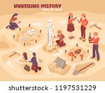 archeology isometric... | Shutterstock .eps vector #1197531229