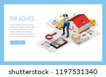 personal tax advice online... | Shutterstock .eps vector #1197531340