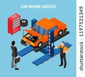 car service concept | Shutterstock .eps vector #1197531349