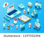 online medicine elements...   Shutterstock .eps vector #1197532396