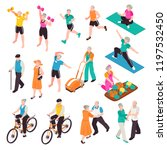 active senior people set | Shutterstock .eps vector #1197532450