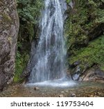 Small Waterfalls In The...