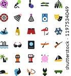 vector icon set   vector  film... | Shutterstock .eps vector #1197534049