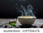 Noodle Soup Hot With Smoke On...