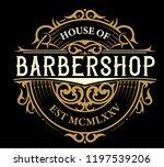 vintage barbershop logo | Shutterstock .eps vector #1197539206