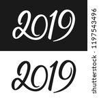 happy new year 2019 greeting... | Shutterstock .eps vector #1197543496