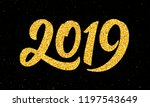 happy new year 2019 greeting...   Shutterstock .eps vector #1197543649