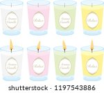 aromatherapy candles... | Shutterstock .eps vector #1197543886