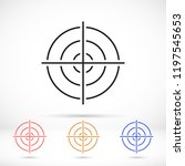 vector icon aim 10 eps | Shutterstock .eps vector #1197545653