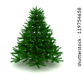 pine tree   3d render on white | Shutterstock . vector #119754658