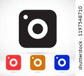vector icon camera | Shutterstock .eps vector #1197548710