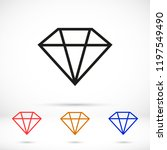 diamond icon vector. | Shutterstock .eps vector #1197549490