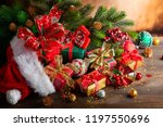 christmas holidays composition... | Shutterstock . vector #1197550696