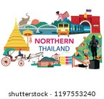 thailand northern region... | Shutterstock .eps vector #1197553240