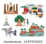 thailand central region... | Shutterstock .eps vector #1197553243