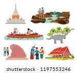 thailand northern east   aka... | Shutterstock .eps vector #1197553246