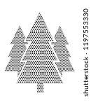 pixel image of evergreen trees | Shutterstock .eps vector #1197553330