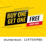 modern buy one get one free... | Shutterstock .eps vector #1197554980