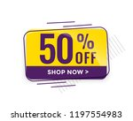 discount sale and price tag... | Shutterstock .eps vector #1197554983