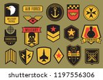 military badges. usa army... | Shutterstock .eps vector #1197556306