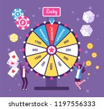 game wheel concept. people... | Shutterstock .eps vector #1197556333