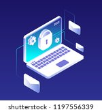 data protection concept. email... | Shutterstock .eps vector #1197556339