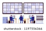 security room. professionals... | Shutterstock .eps vector #1197556366