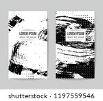 set of vector business card...   Shutterstock .eps vector #1197559546