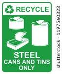 recycle vector sign   steel... | Shutterstock .eps vector #1197560323