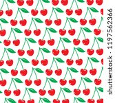 background pattern with cherry  | Shutterstock .eps vector #1197562366