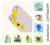 vector illustration of robot... | Shutterstock .eps vector #1197566299