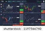 market trade  binary option ... | Shutterstock .eps vector #1197566740